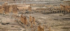 26 Mar 2016, Palmyra, Syria --- PALMYRA, SYRIA. MARCH 26, 2016. A View Of Ancient Pillars In Palmyra, A UNESCO World Heritage Site. The Syrian Government's Army Is Fighting With ISIS Militants For Control Of The Heritage Site. Valery Sharifulin/TASS --- Image By © Valery Sharifulin/ITAR-TASS Photo/Corbis