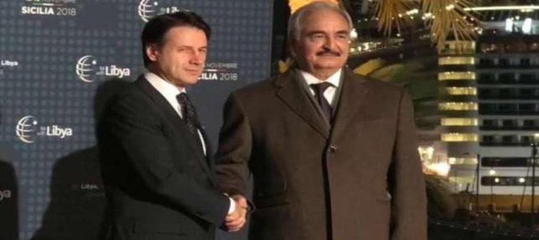 Doppietta Dell'Italia Alla Francia Sulla Libia. Haftar Arriva A Palermo