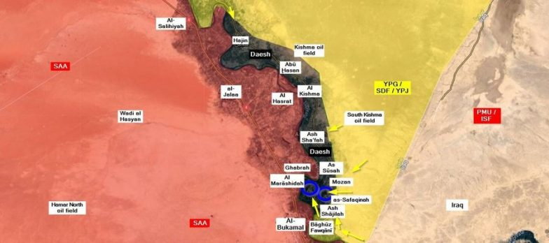 Siria Syria Deirezzor Isis Daesh Statoislamico Islamicstate Hajin Mayadeen Abukamal Safafinah Marashidah Susah Shafah Sdf Jazeerastorm Russia Iran Operationroundup Euphrates