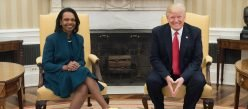 President Donald Trump Meets With Former Secretary Of State Condoleezza Rice In The Oval Office, Friday, March 31, 2017. (Official White House Photo By D. Myles Cullen)